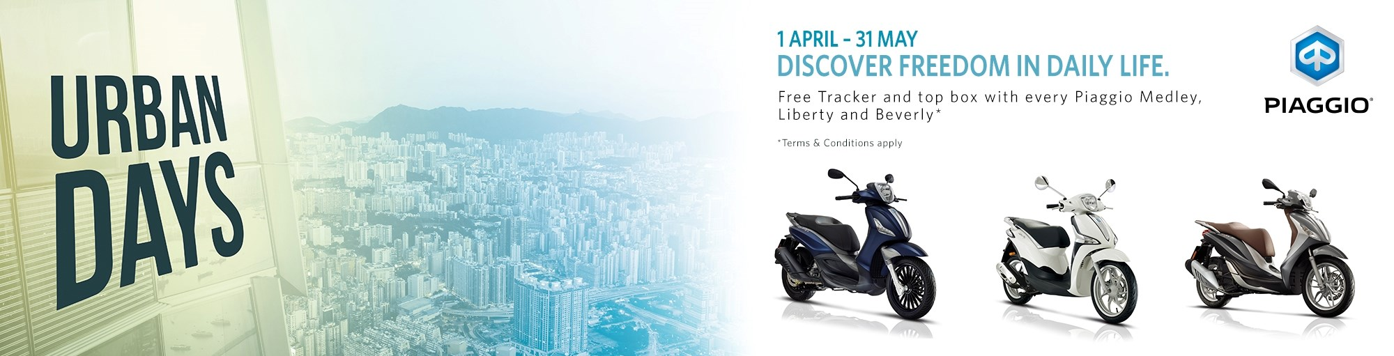 Piaggio Urban Days Accessories Offer